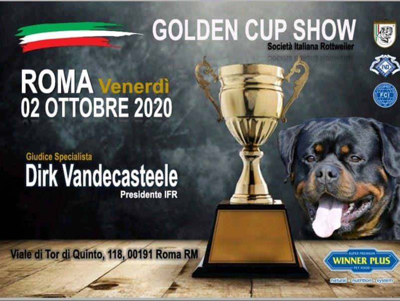 Golden-Cup-Show-2020 CAMPIONATO SOCIALE SIR 2020 - Nyla Dell'Antico Guerriero Allevamento Francesco Zamperini News News - Zamperini Rottweiler Scelte da Zamperini